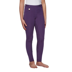 Derby House Gel Full Seat Childrens Riding Tights - Purple