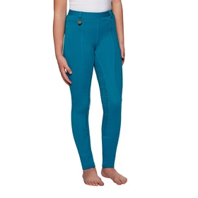 Derby House Gel Full Seat Childrens Riding Tights - Teal