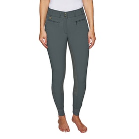 Derby House Elite High Waist Full Seat Ladies Riding Breeches - Grey