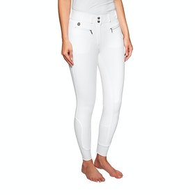 Derby House Elite High Waist Full Seat Ladies Riding Breeches - White