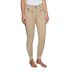 Derby House Elite High Waist Full Seat Ladies Riding Breeches - Beige