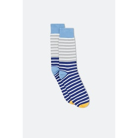 Jollies Skipper Socks - Blue Grey Royal