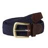 Barbour Stretch Webbing Leather Mens Web Belt