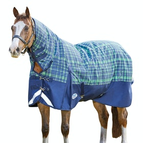 Weatherbeeta ComFiTec Plus Dynamic Medium Combo Turnout Rug - Navy Lime Plaid