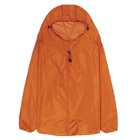 Brooks England Cambridge Hooded Stowable Poncho Waterproof Jacket - Orange