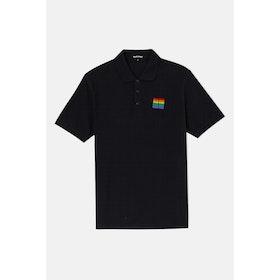 Pass-Port Rainbow Repeat Polo - Black