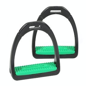 Shires Compositi Premium Profile Stirrup Irons - Green
