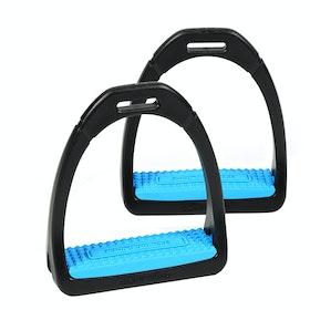 Shires Compositi Premium Profile Stirrup Irons - Bright Blue