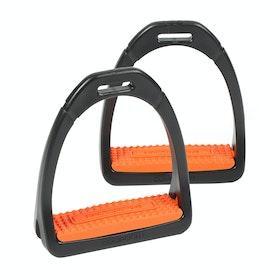 Shires Compositi Premium Profile Stirrup Irons - Orange