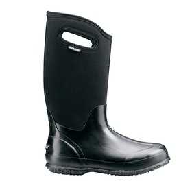 Bogs Classic High Handles Ladies Wellingtons - Black Shiny