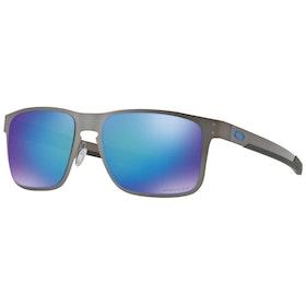 Oakley Holbrook Metal Polarised Sunglasses - Matte Gunmetal ~ Sapphire Iridium Prizm