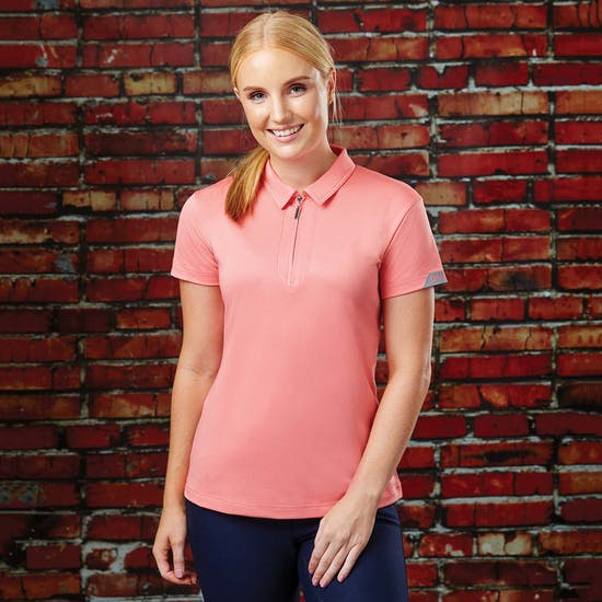 Dublin Columba Short Sleeve Tech Ladies Polo Shirt