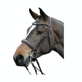 Collegiate Mono Crown Padded Raised Weymouth Bridle - Brown