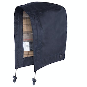Barbour Waxed Cotton Hood - Navy