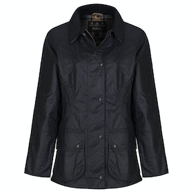 Barbour Beadnell Ladies Wax Jacket - Navy