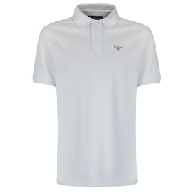 Barbour Sports Mens Polo Shirt - White