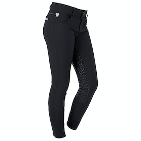 Riding Breeches QHP Lara Anti Slip Full Seat - Black