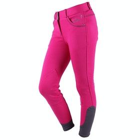 Riding Breeches QHP Girls Lola - Fuchsia