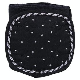 QHP Fleece Sparkle Bandage - Black