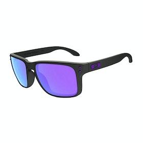 Oakley Holbrook Julian Wilson Sunglasses - Matte Black ~ Violet Iridium