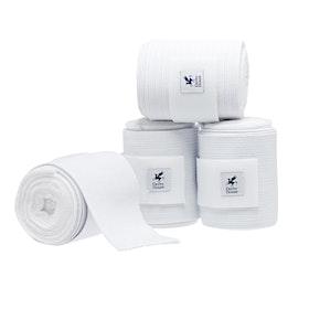 Derby House Pro Set of 4 Elastic Fleece Bandage - White