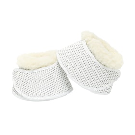 Derby House Pro Fur Trim Over Reach Boots - White
