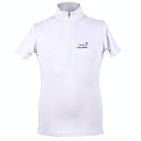 QHP Girls Milou Girls Competition Shirt - White