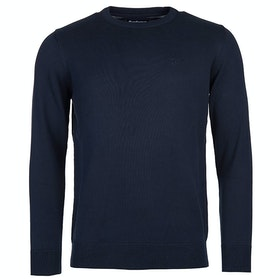 Barbour Pima Cotton Crew Neck Mens Sweater - Navy