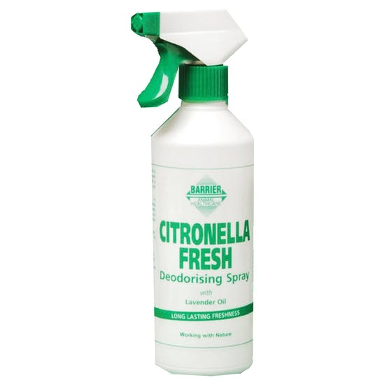 Detergente para Estábulo Barrier Citronella Fresh Deodorising Spray 500ml