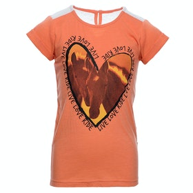 Horseware Novelty Childrens Short Sleeve T-Shirt - Coral