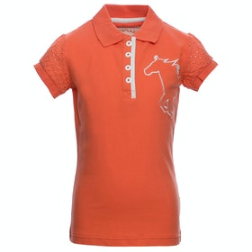 Horseware Pique Childrens Polo Shirt - Coral
