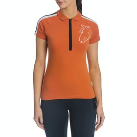 Horseware Sporty Flamboro Ladies Polo Shirt - Orange