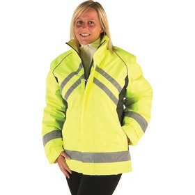 Hy Viz Waterproof Riding Reflektierende Jacke - Yellow Black