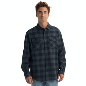 Burton Brighton Flannel Shirt - True Black Heather Buff