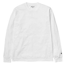 Carhartt Base Long Sleeve T-Shirt - White Black