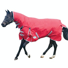 Weatherbeeta ComFiTec Classic Medium Combo Turnout Rug - Red Silver Navy