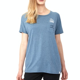 Tentree Sapling Ladies T Shirt - Blue Mirage