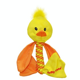 Horsemans Pride Jolly Pets Animal Flathead Duck Dog Toy - Yellow