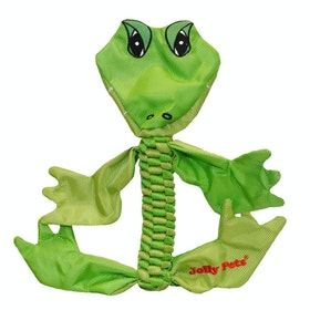 Horsemans Pride Jolly Pets Animal Flathead Alligator Dog Toy - Green