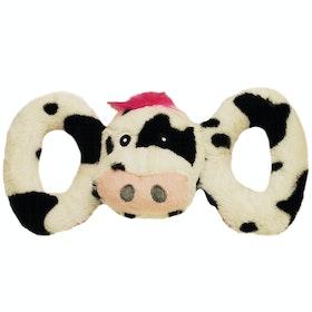Jouet pour chiens Horsemans Pride Jolly Pets Tug a Mal Cow - Black white