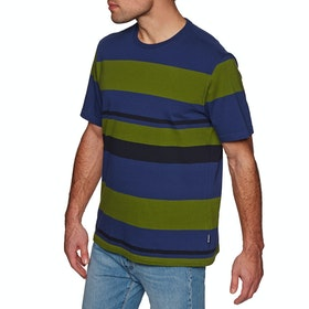 Barbour Longitude Strip T Shirt - Inky Blue