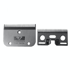 Clipperman CLA22 German Steel Blade Set 1mm Clipper Blade - Silver