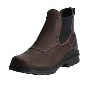 Ariat Barnyard Twin Gore H20 Mens Short Riding Boots - Dark Brown