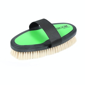 Shires Ezi-Groom Goat Hair Body Brush - Lime Green