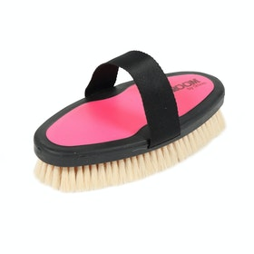 Shires Ezi-Groom Goat Hair Body Brush - Pink