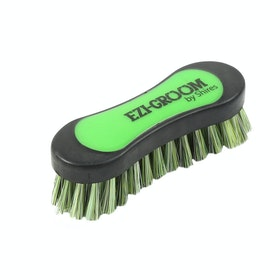 Shires Ezi-Groom Face Brush - Lime Green
