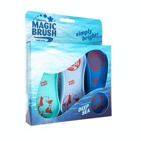 Magic Brush Deep Sea 3 Pack Curry Comb - Blue