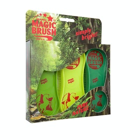 Magic Brush Pure Nature 3 pack Curry Comb - Green