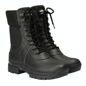 Hunter Balmoral Combat Boot Boots - Black