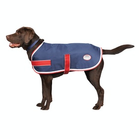 Weatherbeeta Parka 1200D Dog Jacket - Navy Red White